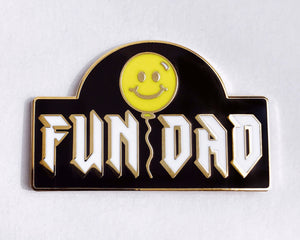 FUN DAD Pin - Gold/Yellow