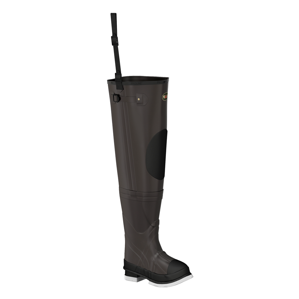 Proline Adults Stream Rubber Hip Wader - Felt Outsole