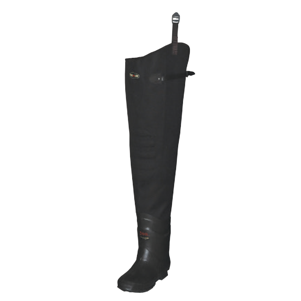 Proline Adults Proliner 3-Ply Stretch Hip Wader - Rubber Outsole
