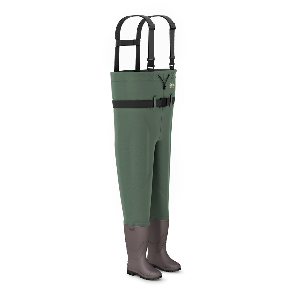 Proline Green River Nylon Chest Wader - Rubber Sole