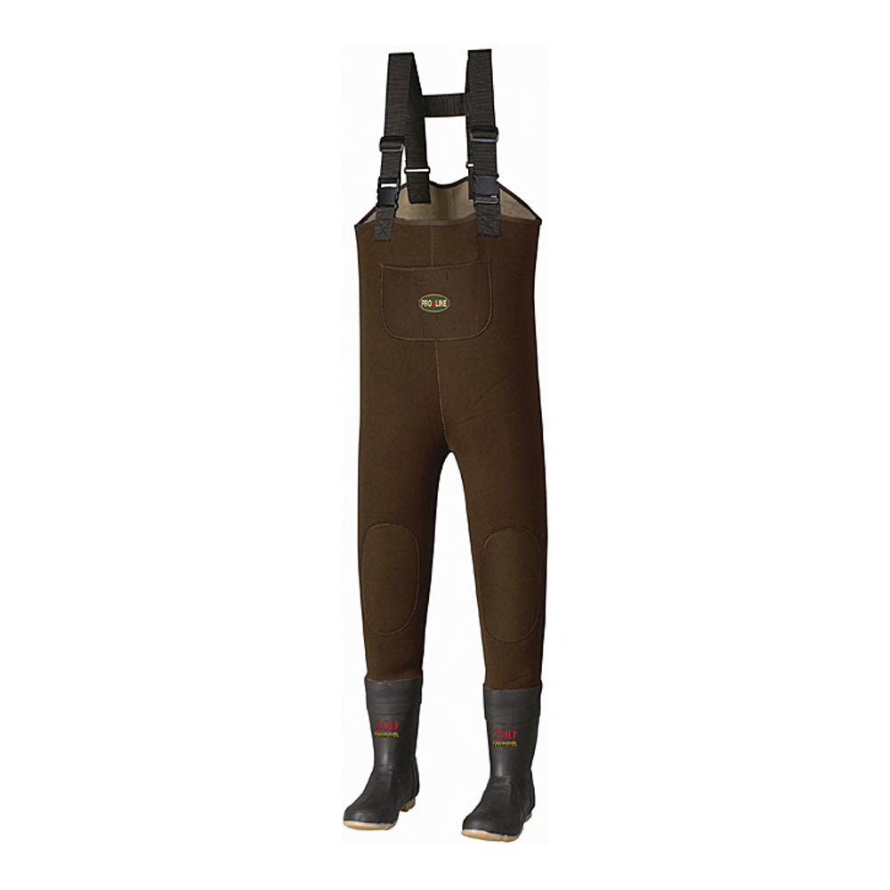 Proline Adults Marsh Creek Neoprene Chest Wader - Rubber Outsole