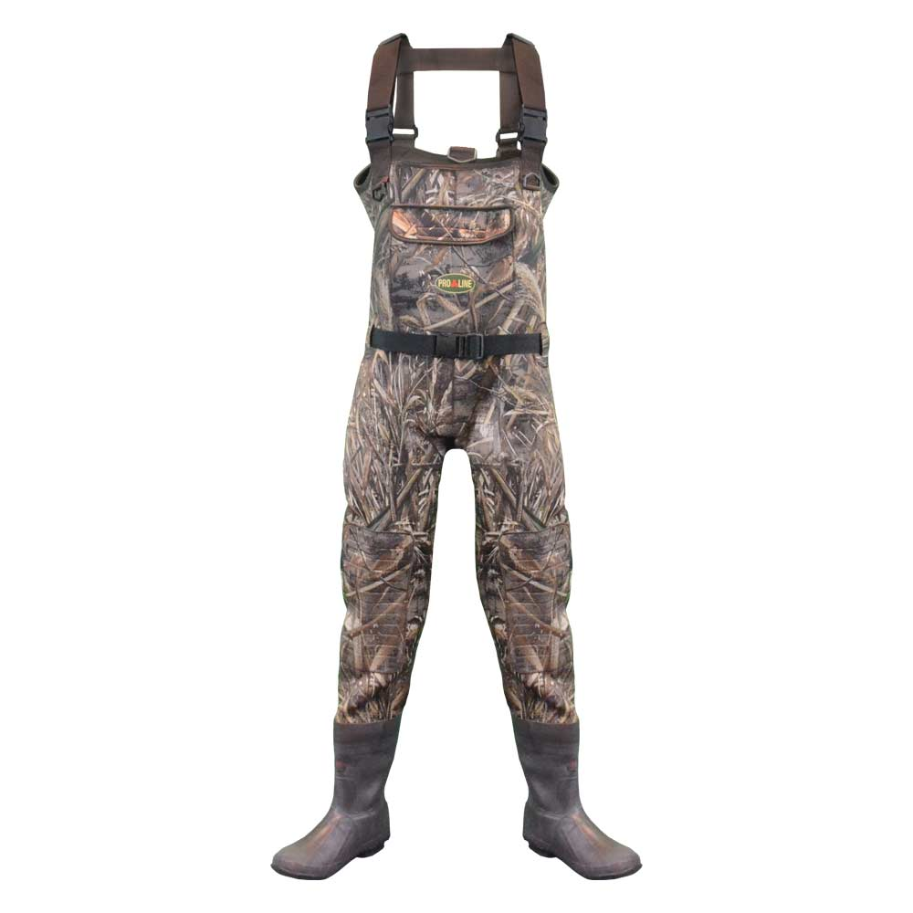 Proline Adults Stout Pintail Neoprene Chest Wader - Rubber Outsole