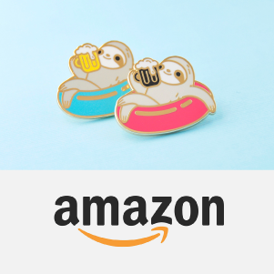 Fun and cute animal enamel pins and more to brighten up your day