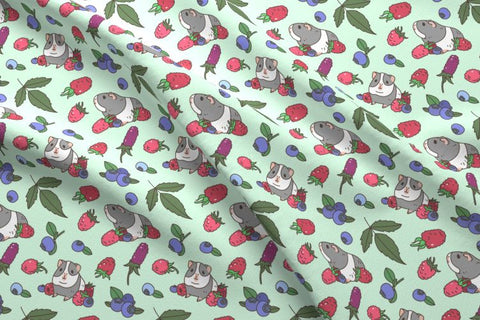 guinea pig fabric by noristudio available on spoonflower