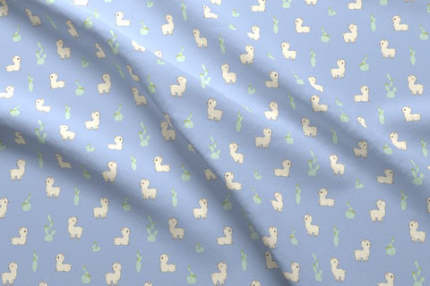 spoonflower alpaca fabric by Norsitudio
