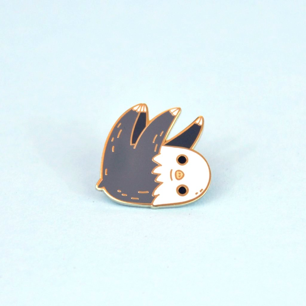 two toed sloth pin by Noristudio