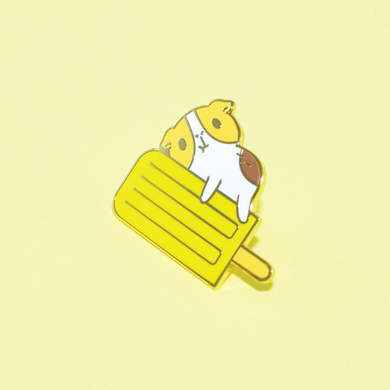 Bubu and Yellow Ice Pop Enamel Pin