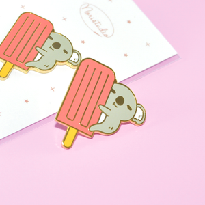 Koala and Pink Ice Pop Enamel Pin