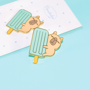 Moonch and Blue Ice Pop Enamel Pin