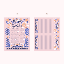 Noristudio Bubu and Moonch 2021 Calendar and letter papers set digital download