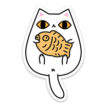 Taiyaki White Cat Vinyl Sticker