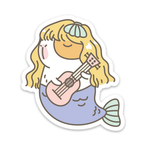 Mermaid Bubu the G-U-I-N-E-A Pig Vinyl Sticker