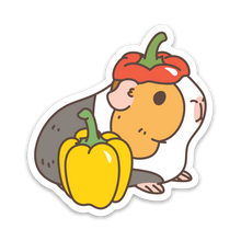 G-U-I-N-E-A Pig and Bell Pepper Vinyl Sticker