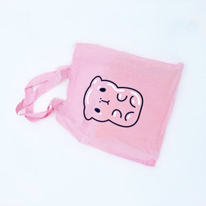 Gummy Bubu Silk Screen Printed Cotton Tote, Pink