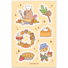 Noristudio Bubu and Moonch Fall and Pie sticcker sheet