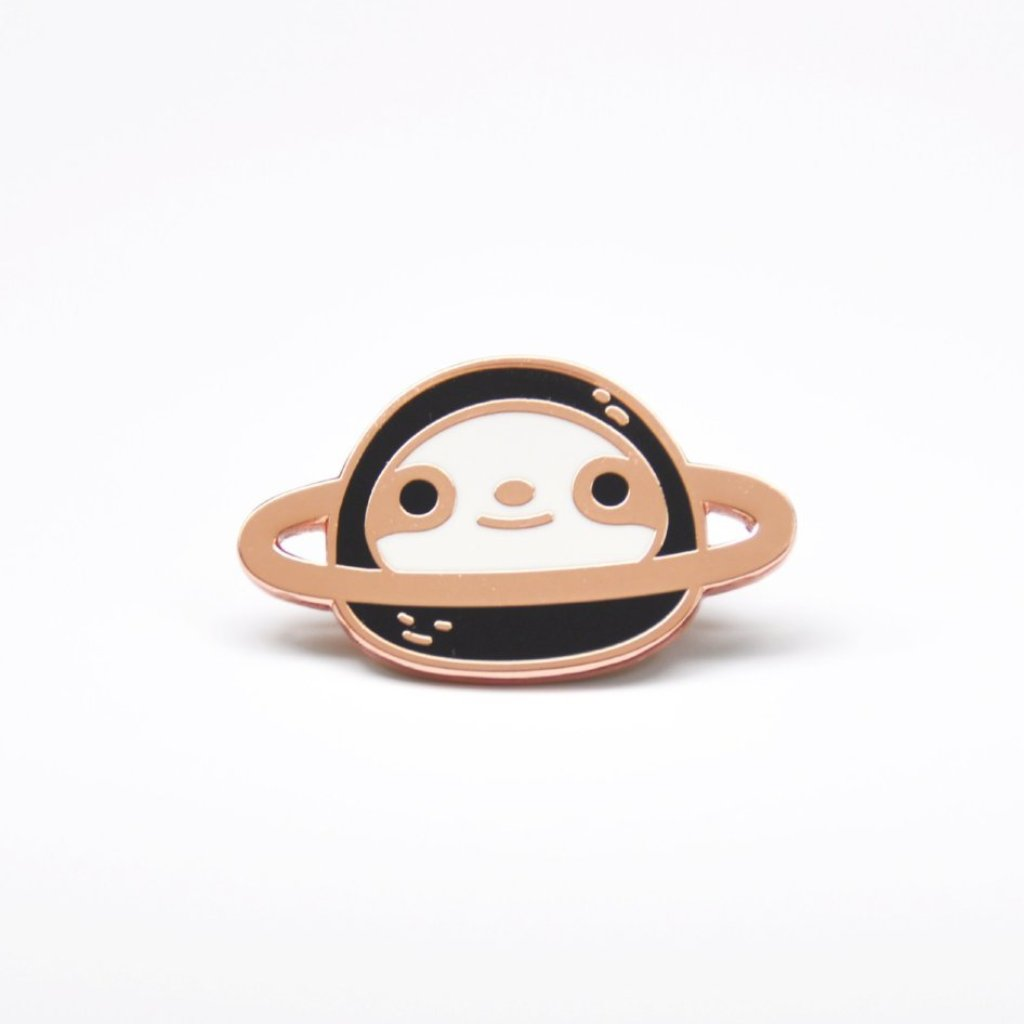 Copper planet sloth pin by Noristudio