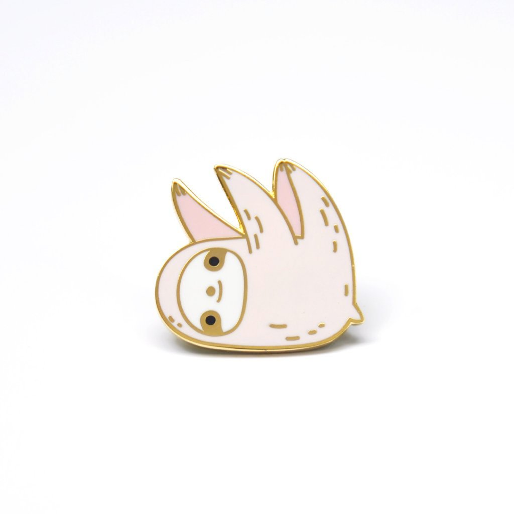 pink sloth enamel pin by Noristudio