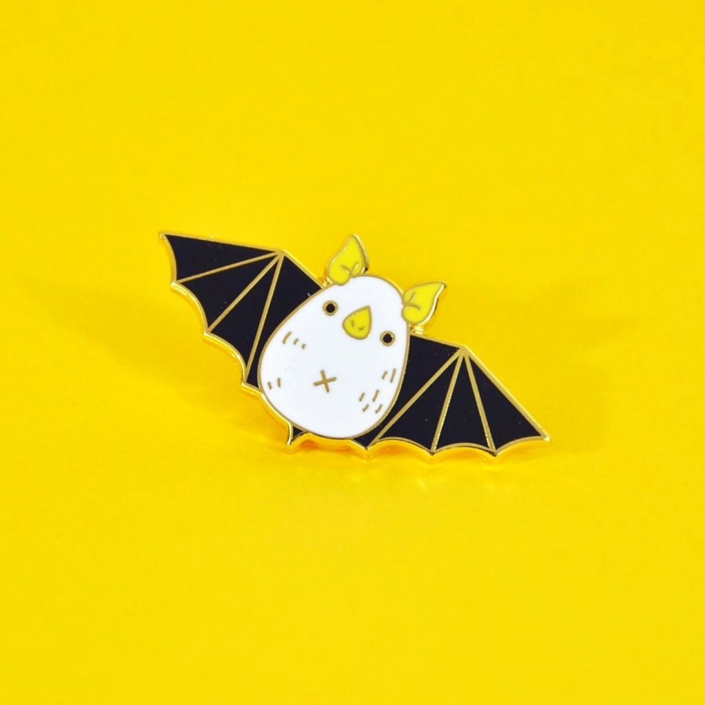 Honduran white bat enamel pin by noristudio