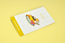 Bubu and Moonch Japanese pudding lapel pin by Noristudio