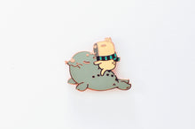 Moonch the capybara lapel pin by Noristudio