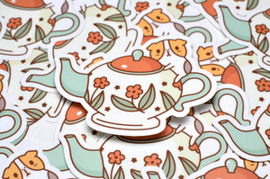 Bubu and Tea Pot Vinyl Sticker