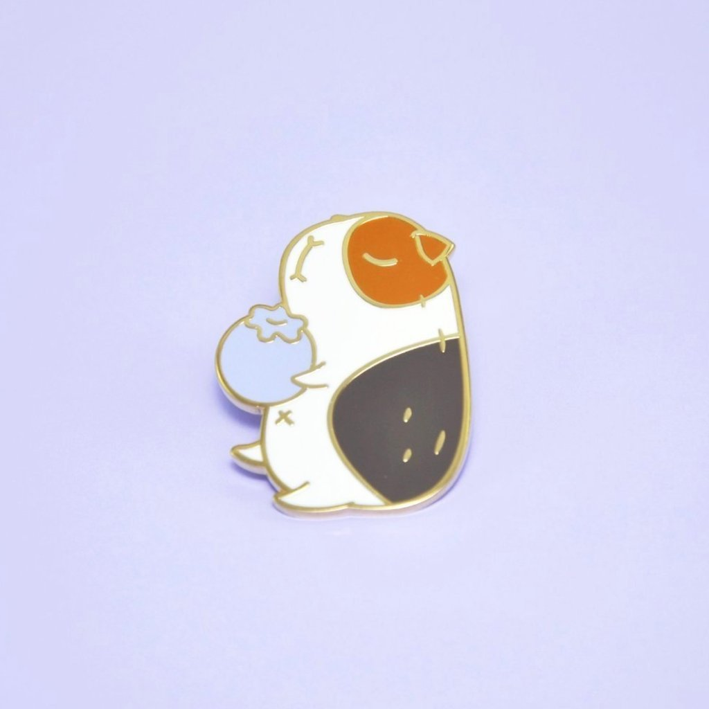 Blueberry and Guinea pig enamel pin by Noristudio