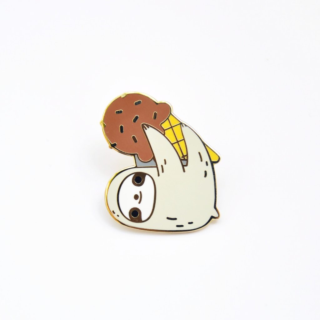 Ice-cream Sloth Enamel Pin by Noristudio