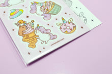 Cute unicorn stickers by Noristudio, unicorn lover gift