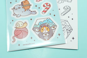 cute animal sticker sheet by Noristudio