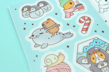 cute penguin sticker sheet by noristudio