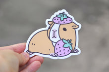 G-U-I-N-E-A Pig and Strawberry Vinyl Sticker