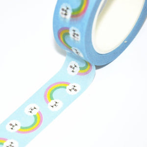 Bichon Frise Washi tape, Rainbow Bichon Washi Tape by Noristudio