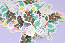 Kawaii Bouquet Glossy Clear Vinyl Sticker