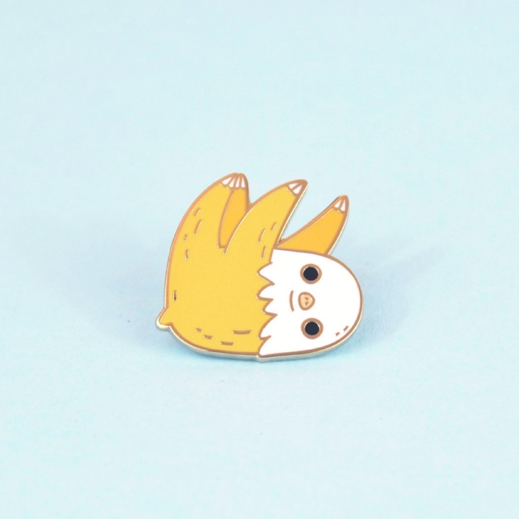 two toed sloth enamel pin by Noristudio