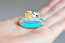 summer sloth enamel pin sloth pin by Noristudio