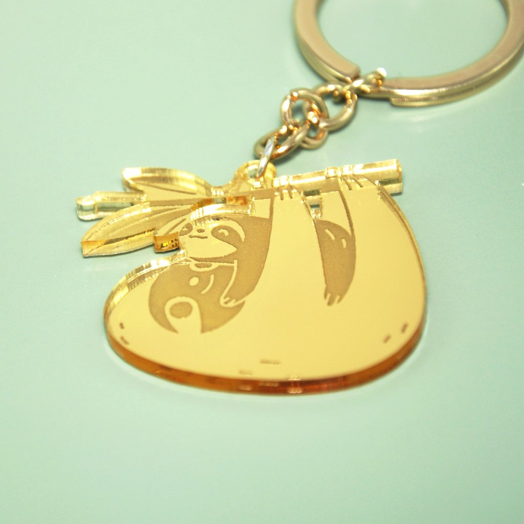 Mom and Baby Sloth Keychain by Noristudio