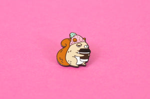 coffee enamel pin by Noristudio
