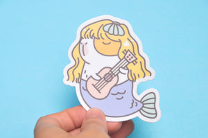 Guinea pig Bubu Sticker Mermaid Bubu playing ukulele