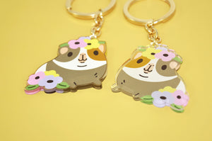 Cute Guinea pig Key Chain by Noristudio