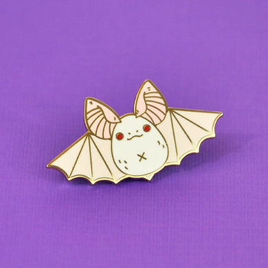 Albino Townsend's Big-eared Bat Enamel Pin