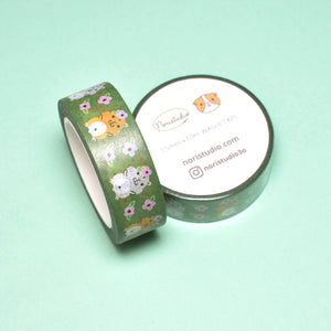 hamster washi tape by Noristudio olive green washi tape washi masking tape hamster gift