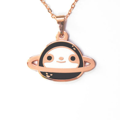 rose gold sloth necklace by Noristudio