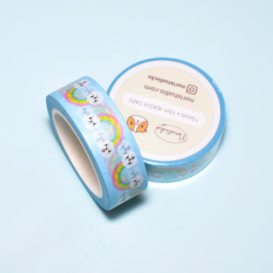 Rainbow Bichon Washi Tape
