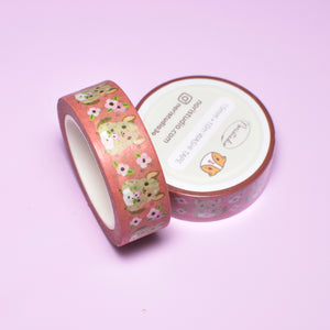 chinchilla washi tape by Noristudio pink washi tape rustic pink washi tape