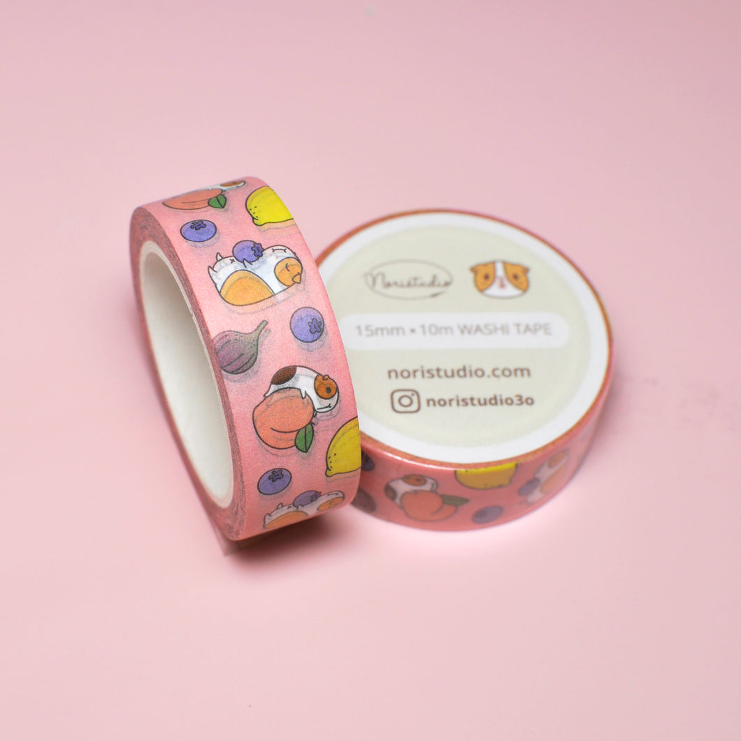 Guinea pig washi tape by Noristudio, Guinea pig owner gift, Guinea pig craft supplies