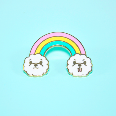 Rainbow Bichon Enamel Pin by Noristudio