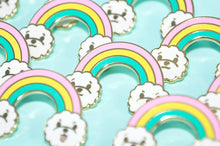 Rainbow Dog Enamel Pin by Noristudio, Dog Lover Gift