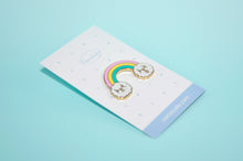 Rainbow Bichon Enamel Pin by Noristudio, Rainbow enamel pin