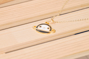 24K Gold Plated Planet Sloth Necklace