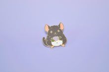 cute chinchilla pin by Noristudio